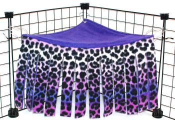 Purple Leopard Corner Curtain