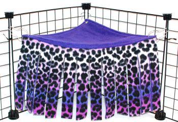 Purple Leopard Corner Curtain