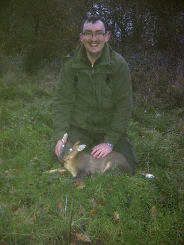 Arwell Thomas with his first Muntjac