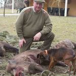 Simon Owen with his first French Boar