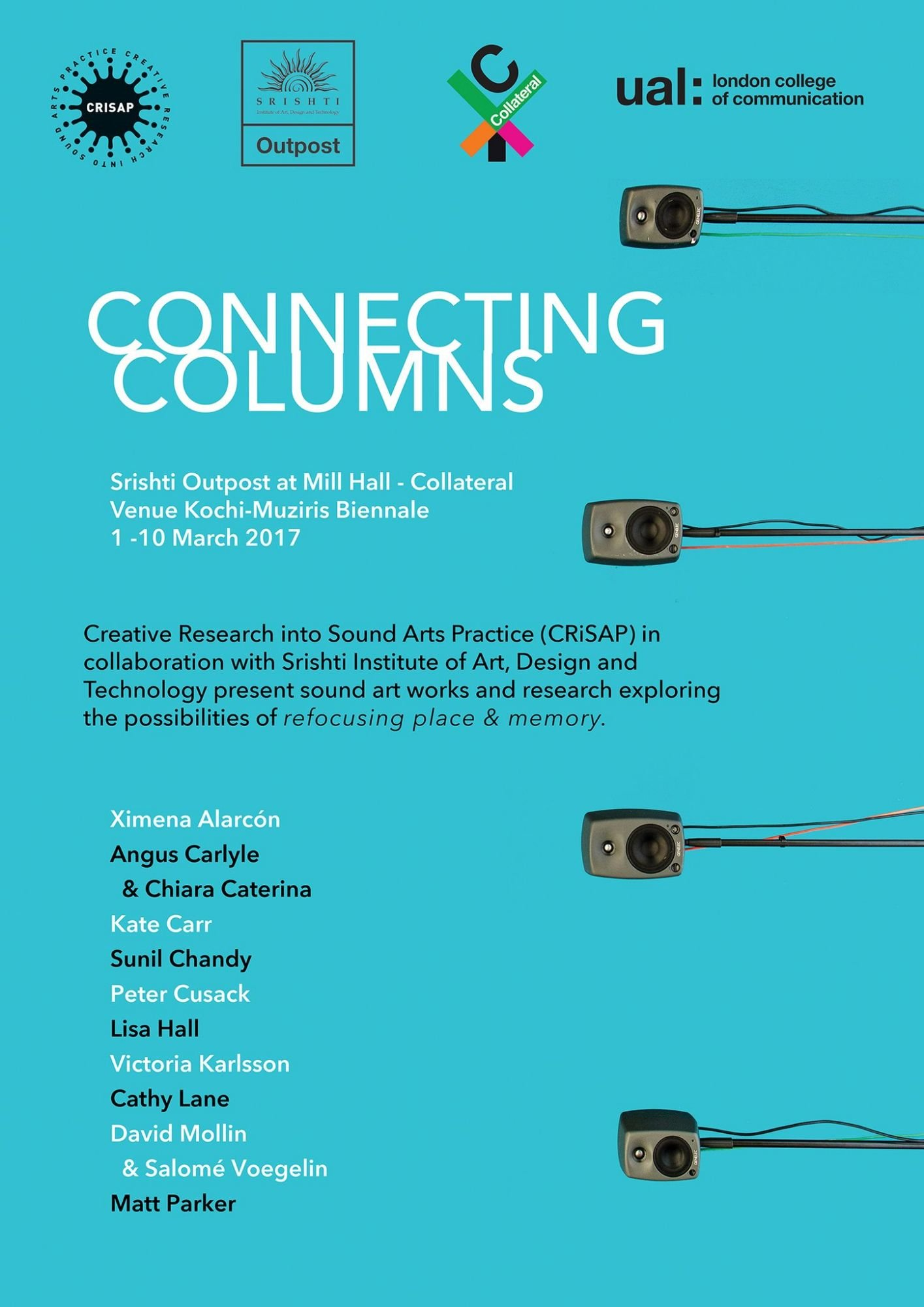 Poster for exhibition 'Connecting columns'