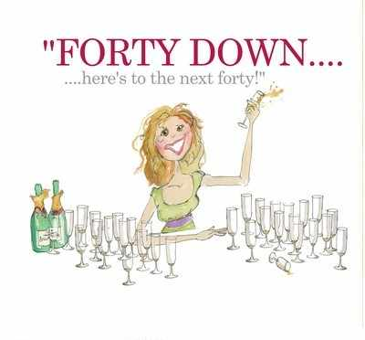 Forty down (woman)