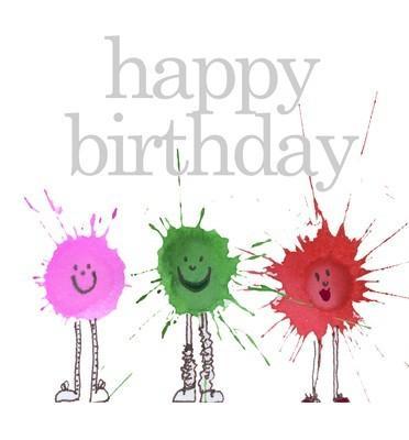 Happy Birthday splats