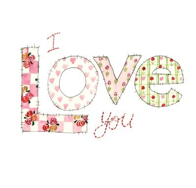 I love you (patchwork)