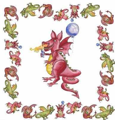 One birthday dragon