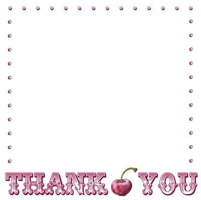Circus thank you - cherry