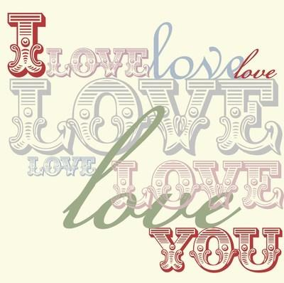 I love you (fonts)