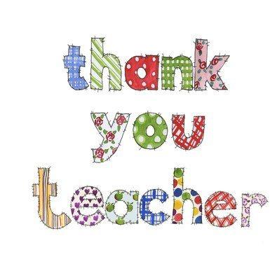 Thank you teacher patchwork