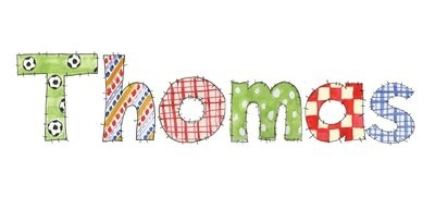 ANY BOY'S NAME using beautiful patchwork lettering