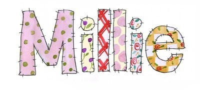 ANY GIRL'S NAME using beautiful patchwork lettering