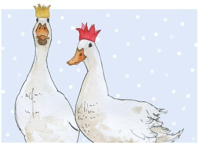 Christmas ducks - pack of Christmas cards