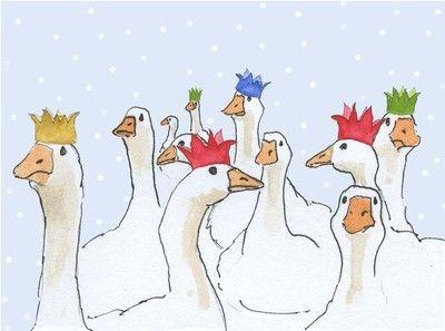 Christmas gaggle - pack of Christmas cards
