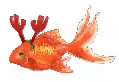 Goldfish - pack of Christmas cards
