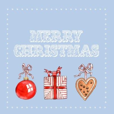 I love Christmas - pack of Christmas cards