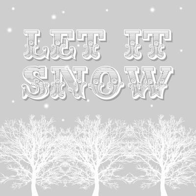 Let it snow - pack of Christmas cards