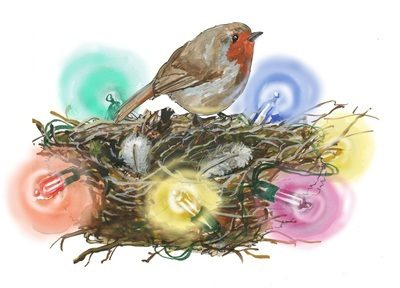 Robin - pack of Christmas cards