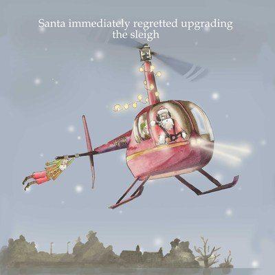 Santa regrets - pack of Christmas cards