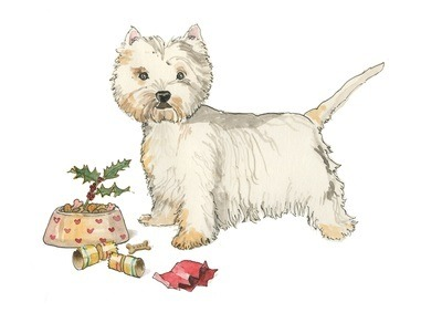 Terrier - pack of Christmas cards