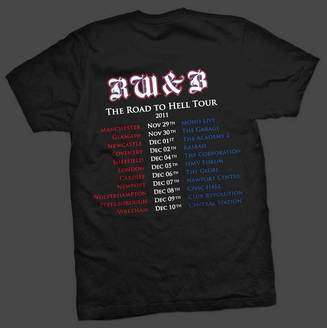 Shine tour t-shirt back