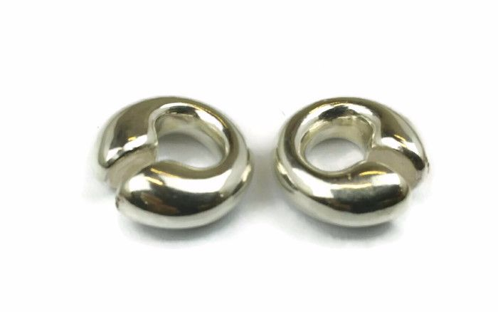 Nessa,Silver  Small Tribal ear weights 10 mm ear hole