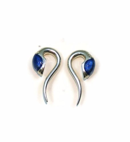 Demi Zorg, silver ear weights, hole size 8 mm