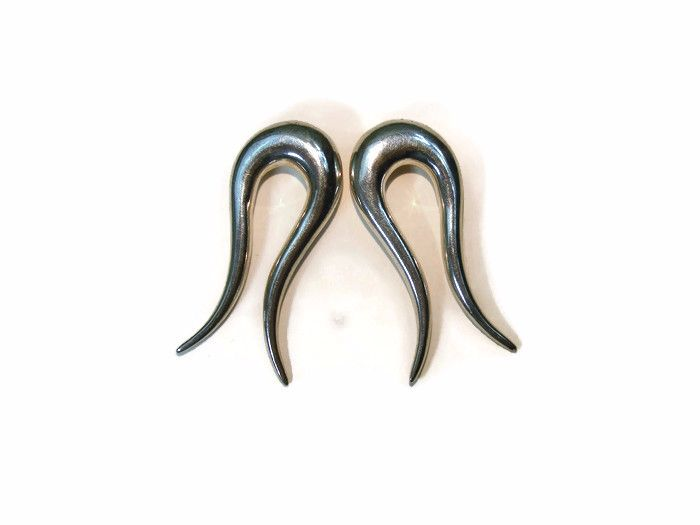 Rhi Ear weights, silver, hole size 8 mm