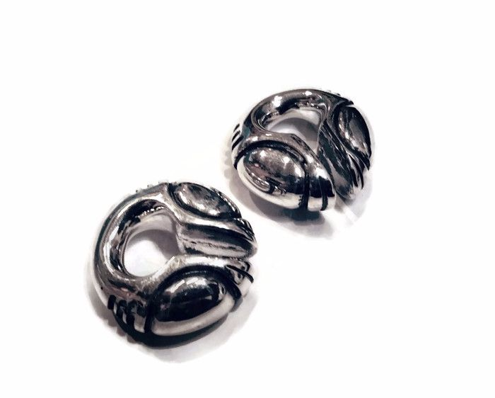 Zorg Earweights, silver 14 mm hole, pair