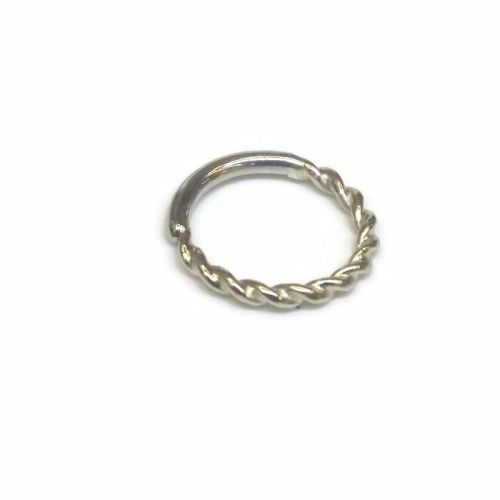 Twisted seam ring, 18 carat white gold