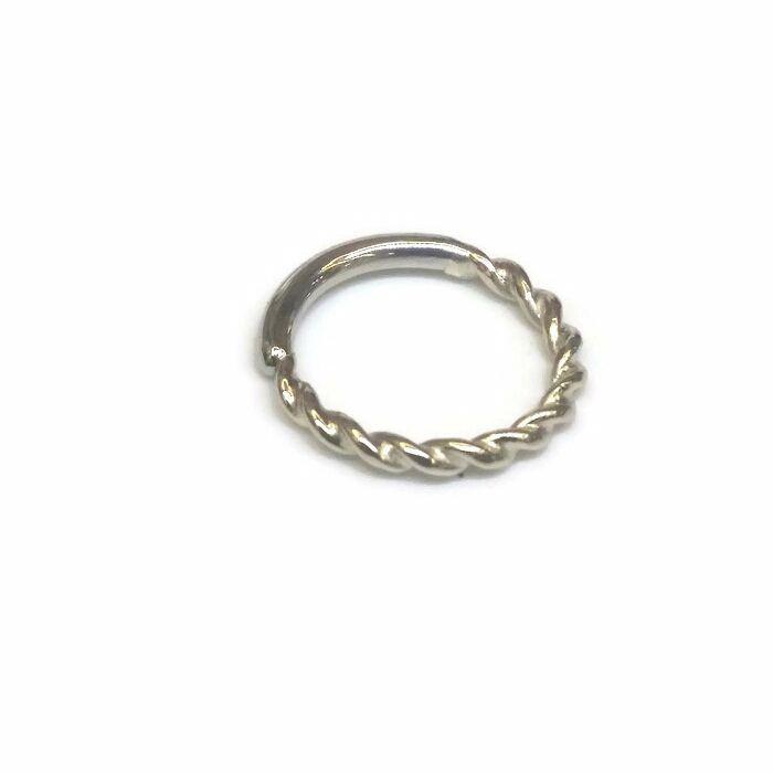 Twisted seam ring, 18 carat white gold