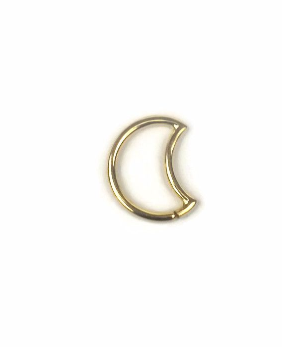 Moon Seam Ring, 18 carat Yellow gold 1.2 mm x 10mm