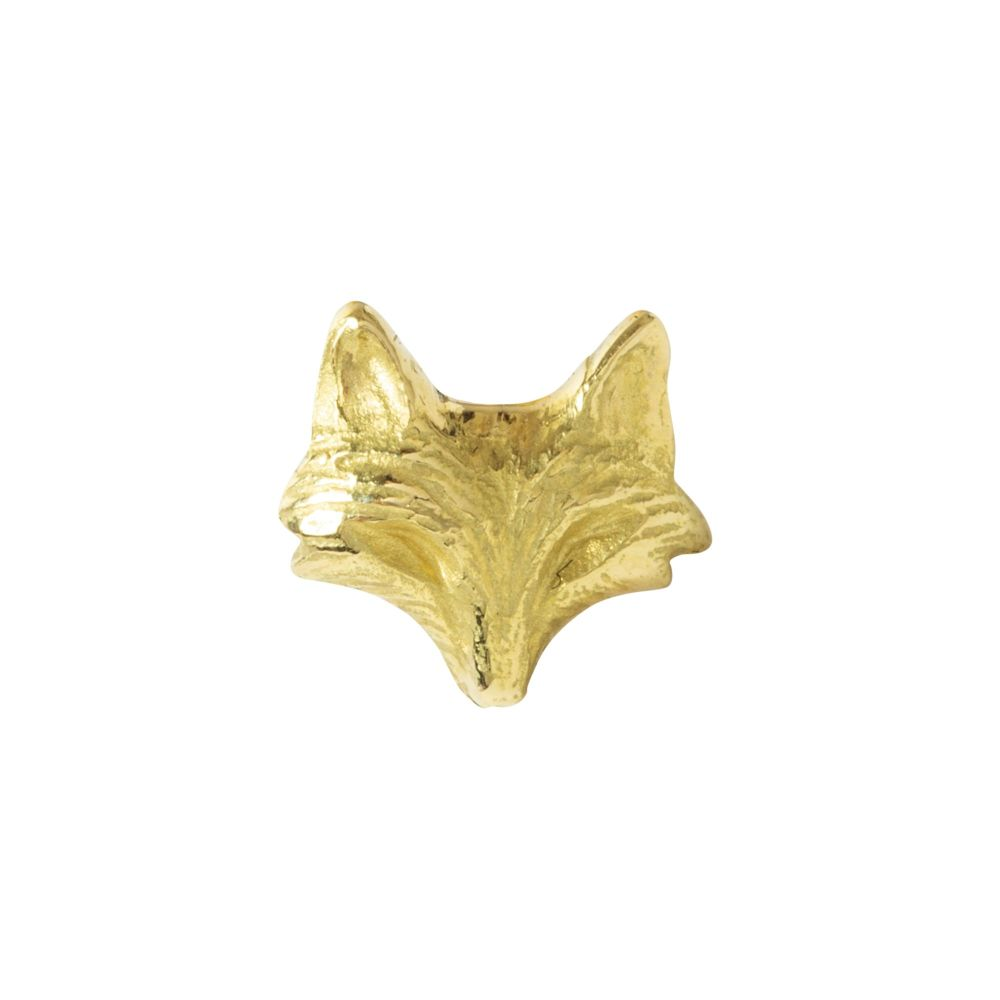 Fox push fit, 18 carat yellow gold