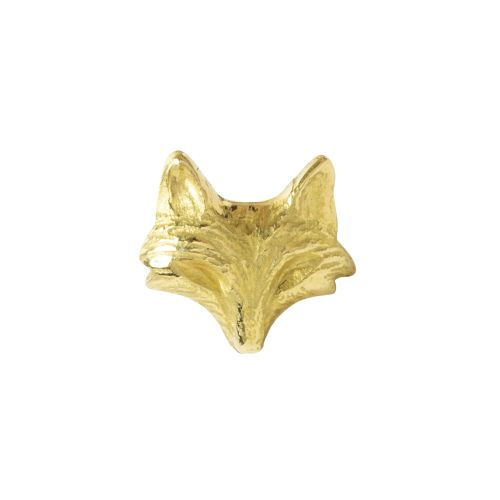 Fox push fit, 18 carat yellow gold