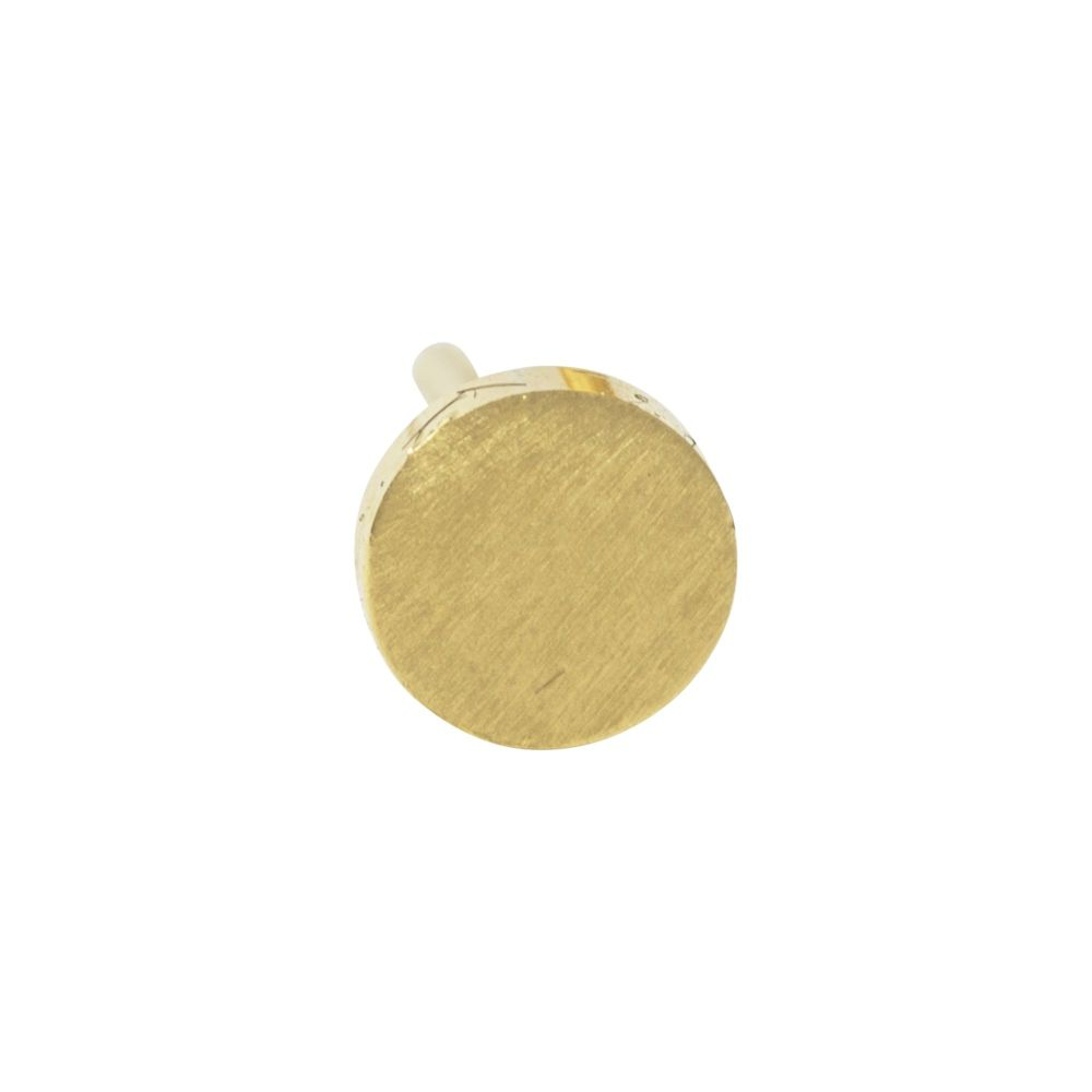 Disk, 18 carat yellow gold front only.