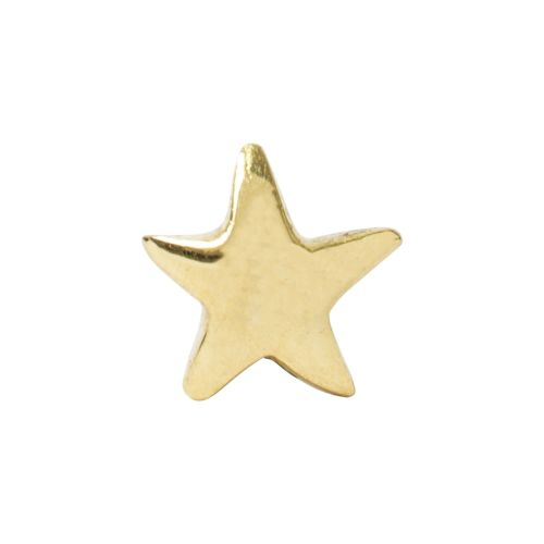 Star, 18 carat yellow gold, front only