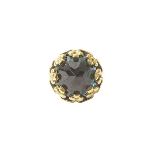 Crown, 18 carat yellow solid gold, front only