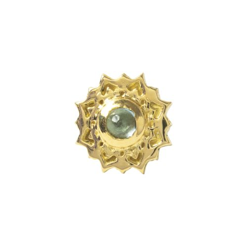 Mandala, 18 carat Yellow, Solid Gold, Front only.