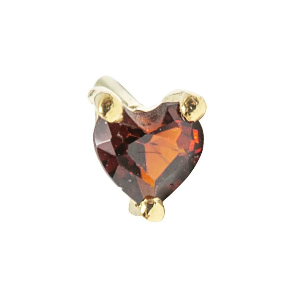 Valentino Heart, 18 carat Yellow Solid Gold, Front only