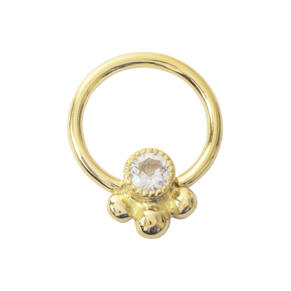Shakti Seam Ring, 18 Carat Yellow Solid Gold, 1.2 mm, 16 g