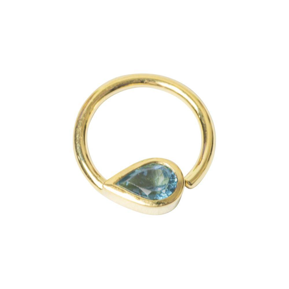 Tara Seam Ring, 18 Carat Yellow Solid Gold, 12 mm , 16 g