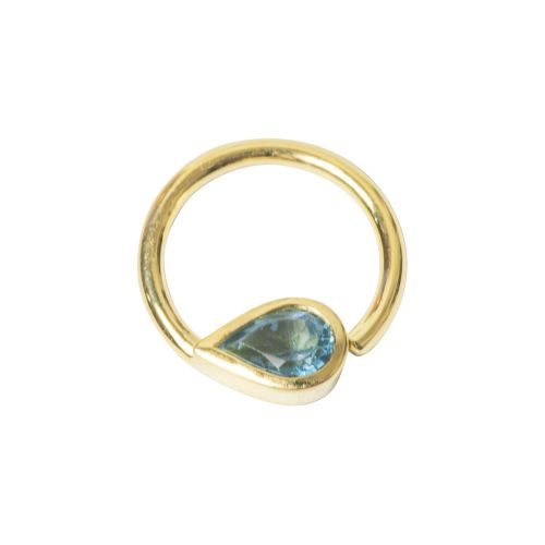 Tara Seam Ring, 18 Carat Yellow Solid Gold, 12 mm , 16 g