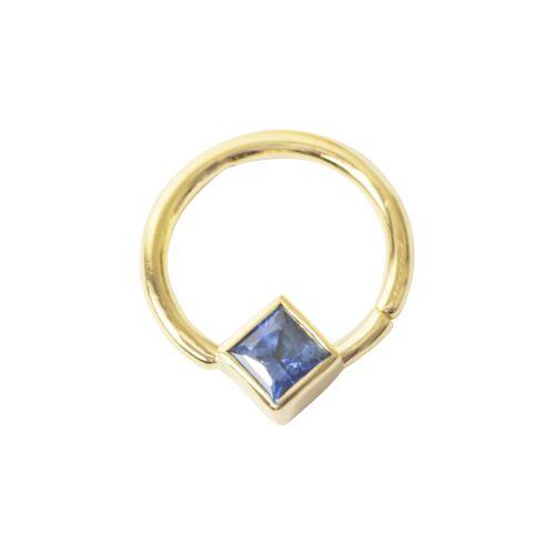 Princess Seam Ring, 18 Carat Yellow Solid Gold. 1.2 mm, 1.6 g