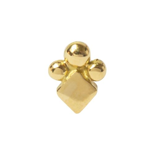 Square Bob, 18 carat Yellow Gold, Front only