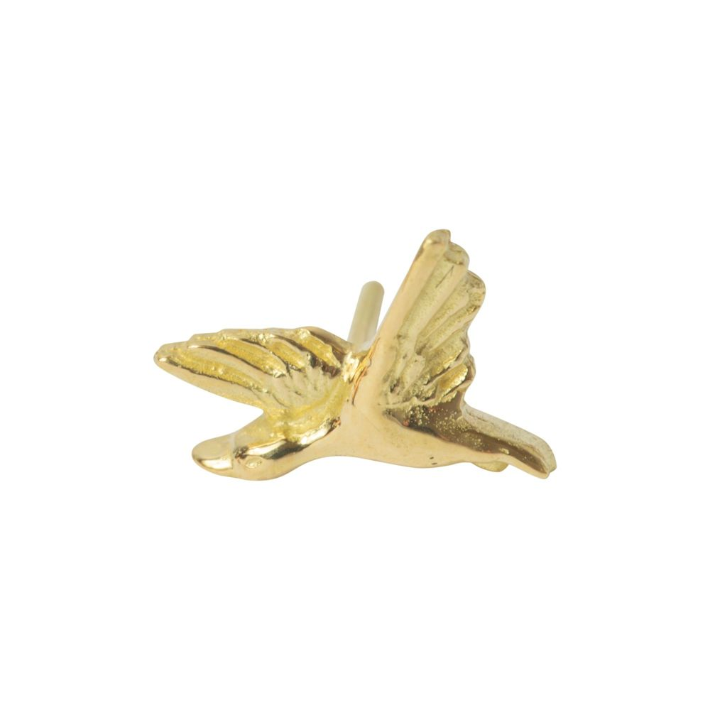 Flying Duck, 18 carat Yellow gold, front only
