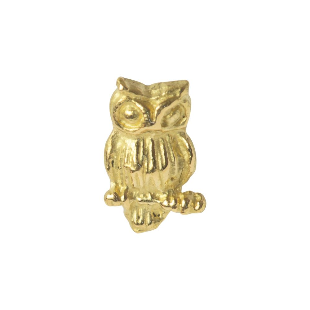 Owl, 18 carat yellow gold, front only