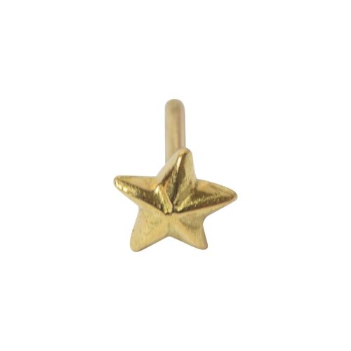 Star, Nautical, 18 carat Yellow Gold, front only