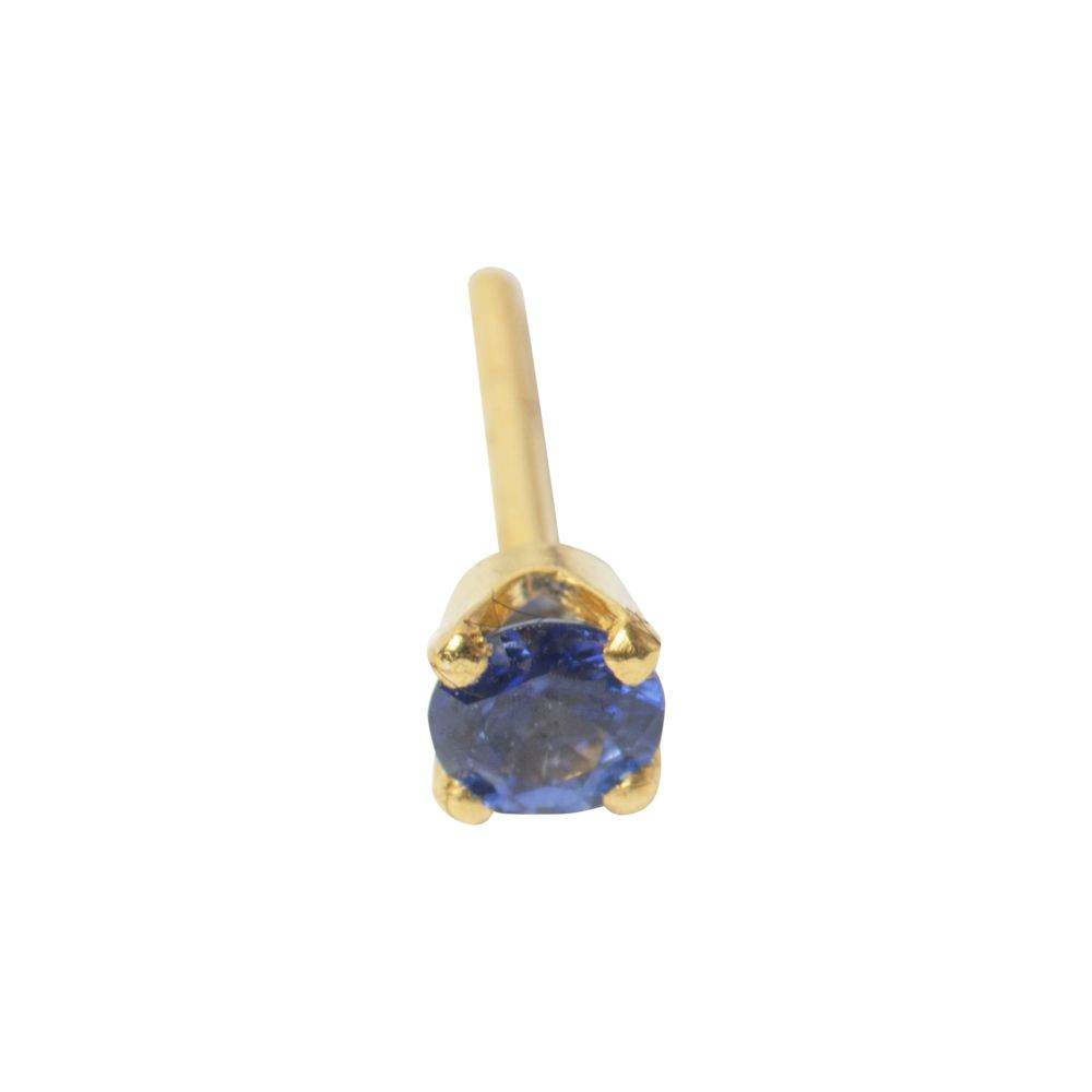 Prong setting, 3 mm, 18 carat yellow gold,  front only