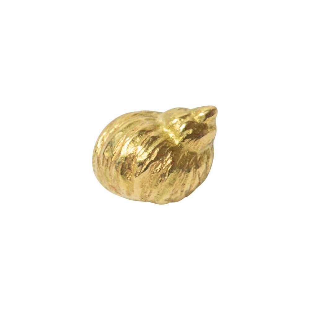 Myshell, 18 carat Yellow gold, front only