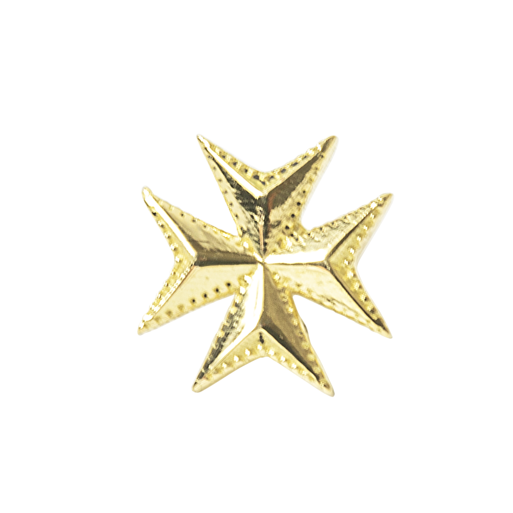 Maltese Cross, 18 carat Yellow Gold, front only