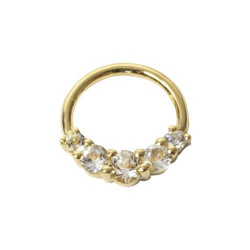 Amanda Seam Ring, 18 carat Yellow gold