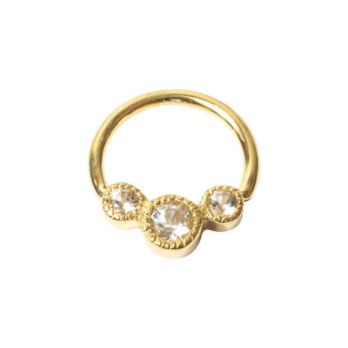 Katie, 18 carat yellow Gold Seam ring
